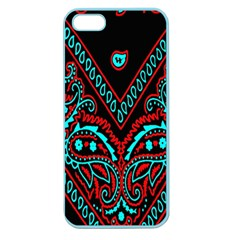 Blue And Red Bandana Apple Seamless Iphone 5 Case (color) by dressshop