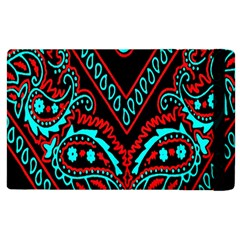 Blue And Red Bandana Apple Ipad 2 Flip Case by dressshop