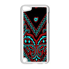 Blue And Red Bandana Apple Ipod Touch 5 Case (white) by dressshop