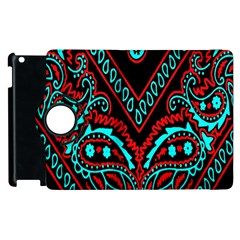 Blue And Red Bandana Apple Ipad 2 Flip 360 Case by dressshop