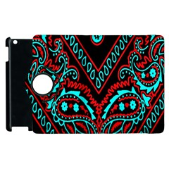 Blue And Red Bandana Apple Ipad 3/4 Flip 360 Case by dressshop