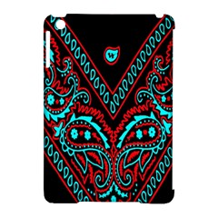 Blue And Red Bandana Apple Ipad Mini Hardshell Case (compatible With Smart Cover) by dressshop