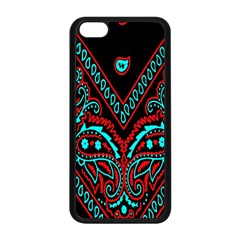 Blue And Red Bandana Apple Iphone 5c Seamless Case (black) by dressshop