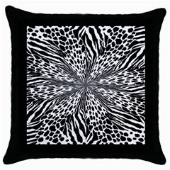 Animal Print 1 Throw Pillow Case (black) by dressshop