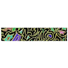 Swirl Retro Abstract Doodle Small Flano Scarf by dressshop