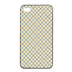 Plaid 2 Apple Iphone 4/4s Seamless Case (black) by dressshop