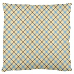 Plaid 2 Large Cushion Case (two Sides) by dressshop