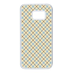 Plaid 2 Samsung Galaxy S7 White Seamless Case by dressshop