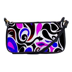 Retro Swirl Abstract Shoulder Clutch Bag by dressshop