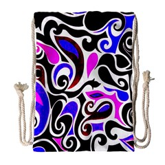 Retro Swirl Abstract Drawstring Bag (large) by dressshop