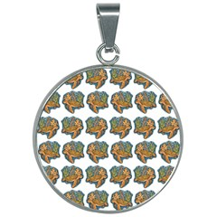Tommyturt 30mm Round Necklace by ArtByAng