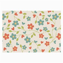 Flowers Pattern Large Glasses Cloth (2 Side) by Hansue