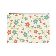 Flowers Pattern Cosmetic Bag (large) by Hansue