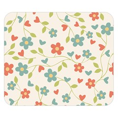 Flowers Pattern Double Sided Flano Blanket (small)  by Hansue