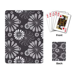 Floral Pattern Playing Cards Single Design by Hansue