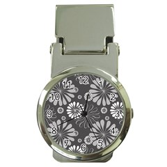 Floral Pattern Money Clip Watches by Hansue