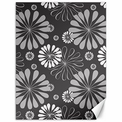 Floral Pattern Canvas 12  X 16  by Hansue