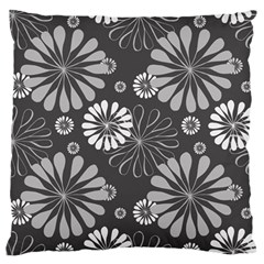 Floral Pattern Large Flano Cushion Case (one Side) by Hansue