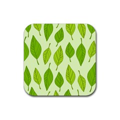 Autumn Pattern Rubber Square Coaster (4 Pack)  by Hansue
