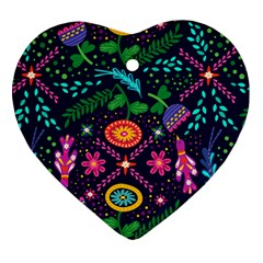 Colorful Pattern Ornament (heart) by Hansue