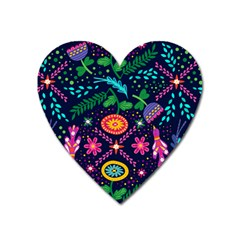 Colorful Pattern Heart Magnet by Hansue