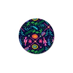 Colorful Pattern Golf Ball Marker by Hansue