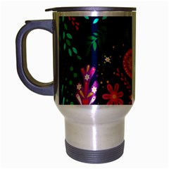 Colorful Pattern Travel Mug (silver Gray) by Hansue