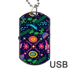 Colorful Pattern Dog Tag Usb Flash (two Sides) by Hansue