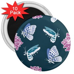 Butterfly  3  Magnets (10 Pack)  by Hansue