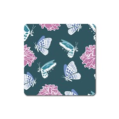 Butterfly  Square Magnet by Hansue