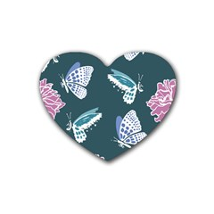 Butterfly  Heart Coaster (4 Pack)  by Hansue