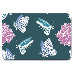 Butterfly  Large Doormat  by Hansue
