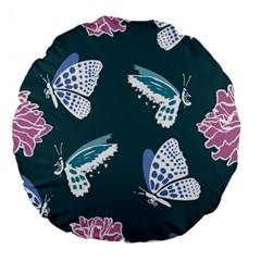 Butterfly  Large 18  Premium Round Cushions by Hansue