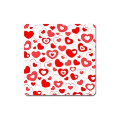 Hearts Square Magnet by Hansue