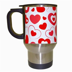 Hearts Travel Mugs (white) by Hansue