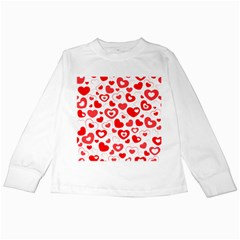 Hearts Kids Long Sleeve T-shirts by Hansue
