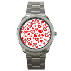 Hearts Sport Metal Watch by Hansue