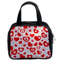 Hearts Classic Handbag (two Sides) by Hansue