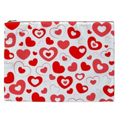 Hearts Cosmetic Bag (xxl) by Hansue
