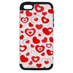 Hearts Apple Iphone 5 Hardshell Case (pc+silicone) by Hansue