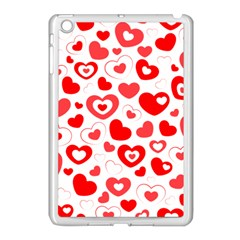 Hearts Apple Ipad Mini Case (white) by Hansue