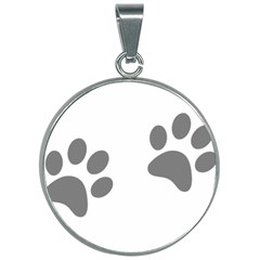 Pets Footprints 30mm Round Necklace