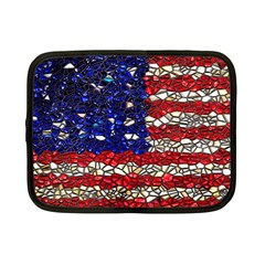 American Flag Mosaic Netbook Case (small) by bloomingvinedesign