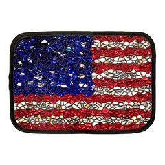 American Flag Mosaic Netbook Case (medium) by bloomingvinedesign