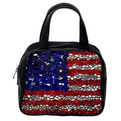 American Flag Mosaic Classic Handbag (one Side) by bloomingvinedesign