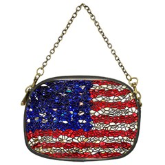 American Flag Mosaic Chain Purse (one Side) by bloomingvinedesign