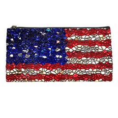 American Flag Mosaic Pencil Cases by bloomingvinedesign