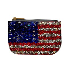 American Flag Mosaic Mini Coin Purse by bloomingvinedesign