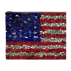 American Flag Mosaic Cosmetic Bag (xl) by bloomingvinedesign