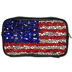 American Flag Mosaic Toiletries Bag (one Side) by bloomingvinedesign